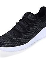 Men's Athletic Shoes Comfort PU Spring Fall Casual Comfort Flat Heel White Black Khaki Flat