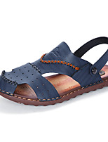 Men's Slippers & Flip-Flops Toe Ring Light Soles Leatherette Spring Summer Casual Khaki Blue Brown Flat