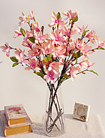 11 Head Small Magnolia Wood Artificial Bouquet for Home Decor and Wedding Decorations
