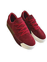 Men's Sneakers Comfort Suede Pigskin Spring Daily Black Gray Ruby Flat