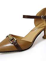 Women's Heels Leather Summer Walking Split Joint Stiletto Heel Black Beige Brown 2in-2 3/4in