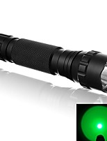 WF-501B 500 Lumens 1 Mode Green Light Lighting LED Flashlight Signal Lamp with Tail Pressure Switch