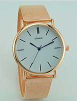 Women's Men's Fashion Watch Quartz Alloy Band Casual Silver Gold Rose Gold