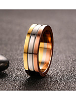 Vintage Simple Rose Gold Titanium Steel Ring Jewelry For Man And Woman  Wedding Anniversary Party/Evening Engagement