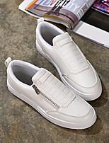 Для мужчин Кеды Удобная обувь Полотно Тюль Весна Повседневный Белый Черный На плоской подошве