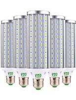 45W E26/E27 LED corn žárovky 140 SMD 5730 4350-4450 lm Teplá bílá Chladná bílá Ozdobné AC 85-265 V 5 ks