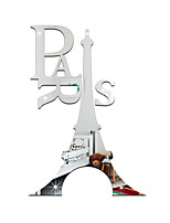 3D Wall Stickers Wall Decals Style Eiffel Tower Mirror Wall Stickers