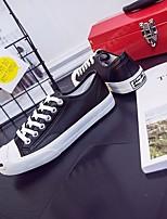 Для мужчин Кеды Удобная обувь Полиуретан Осень Зима Повседневный На низком каблуке Черный 2,5 - 4,5 см