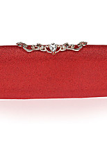 Women Evening Bag Polyester All Seasons Formal Event/Party Wedding Minaudiere Crystal/ Rhinestone Clasp LockRose Red Aquamarine Ruby