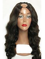 Barato brasileiro u parte cabelo humano perucas de renda com cabelo bebê 100% cabelo humano virgem com cabelos naturais quente 130%