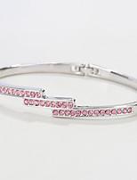 Femme Bracelets Rigides Bijoux Naturel Mode Vintage Fait à la main Cristal Alliage Formé Carrée Bijoux PourMariage Soirée Anniversaire