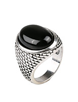 Retro Gemstone Ring For Women Men Jewelry Exaggerated Female Men Jewelry Ring