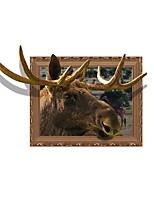 Животные 3D Наклейки 3D наклейки Светящиеся наклейки Декоративные наклейки на стены,Винил материал Украшение дома Наклейка на стену