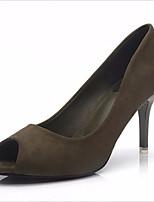 Femme Chaussures à Talons Confort Polyuréthane Printemps Eté Décontracté Confort Noir Vert Chair 12 cm & plus