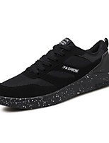 Men's Athletic Shoes Comfort PU Spring Fall Casual/Daily Walking Comfort Lace-up Flat Heel Black Black/White Black/Red 2in-2 3/4in