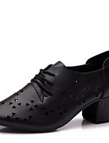 Keine Maßfertigung möglich Damen Modern Leder Absätze Im Freien Niedriger Heel Schwarz 2,5 - 4,5 cm