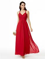 LAN TING BRIDE Longueur Cheville Bretelles Fines Robe de Demoiselle d'Honneur  - Jolis Dos Sans Manches Mousseline de soie