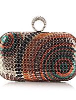 Women Evening Bag Polyester All Seasons Formal Casual Event/Party Wedding Minaudiere Sequin Clasp Lock Gray Green Gold