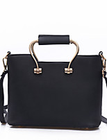 Women Tote PU All Seasons Formal Casual Event/Party Wedding Office & Career Barrel Zipper Gray Blushing Pink Black Green