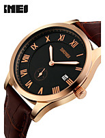 Women's Men's SKMEI Wristwatches Business Male Fashion Casual Watches Classic Genuine Waterproof Leather Strap Watch Quartz Watches