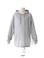 Men's Casual/Daily Hoodie Solid Hooded Micro-elastic Cotton Long Sleeve Spring Summer