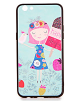 For oppo r9s r9s plus case cover pattern задняя крышка чехол gril мультфильм hard pc r9 r9 plus