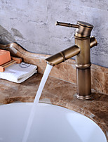 ContemporaryCeramic Valve One Hole for  Antique Copper , Bathroom Sink Faucet