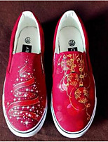 Women's Loafers & Slip-Ons Comfort Canvas Spring Casual Comfort Light Blue Blue Ruby Flat