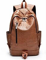 Men Backpack PU All Seasons Casual Bucket Zipper Black Brown