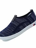 Для мужчин Мокасины и Свитер Удобная обувь Ткань Весна Осень Повседневный На плоской подошве Черный Серый Синий 2,5 - 4,5 см