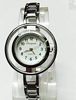 Mulheres Relógio Esqueleto Relógio de Pulso Bracele Relógio Chinês Quartzo Lega Banda Brilhante Pendente Casual Prata
