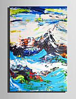 Handgemalte Landschaft Vertikal,Retro Ein Panel Leinwand Hang-Ölgemälde For Haus Dekoration