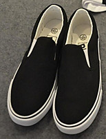 Women's Loafers & Slip-Ons Comfort Canvas Spring Casual Comfort Black White Flat