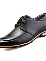 Для мужчин Мокасины и Свитер Формальная обувь Полиуретан Весна Осень Для офиса Повседневный На плоской подошве Черный Желтый 2,5 - 4,5 см