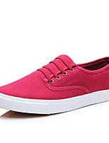 Для мужчин Мокасины и Свитер Удобная обувь Полотно Весна Осень Повседневный На плоской подошве Черный Красный Синий 2,5 - 4,5 см