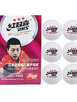 6pcs 3 Stars Ping Pang/Table Tennis Ball