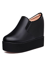 Women's Heels Formal Shoes Leatherette Spring Summer Outdoor Office & Career Dress Casual Wedge Heel Black White 5in & over