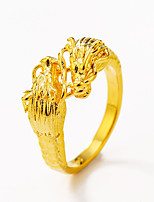 Gothic Fashion Dragon Gold Plated Ring Jewelry For Special Occasion Halloween