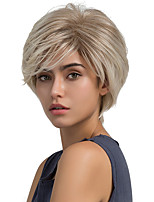Fluffy Natural Oblique Fringe Short Hair Synthetic Wig