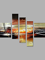Abstract Oil Painting Framed Handmade Set of 5 Wall Art For Home Decoration