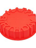 1 לתבנית אפייה משומנת אותיות לעוגה עבור פאי לקבלת שוקולד ללחם גומי סיליקוןלא דביק ידידותי לסביבה יום הולדת חג ההודיה עשה-זאת-בעצמך 3D