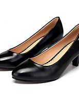 Women's Heels Formal Shoes Leatherette Spring Fall Office & Career Formal Shoes Chunky Heel Black 5in & over