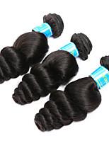 Tissages de cheveux humains Cheveux Birmans Ondulation Lâche 12 mois 3 Pièces tissages de cheveux