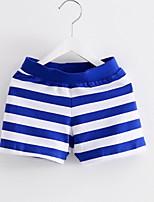 Unissex Shorts Listrado Verão Outono Primavera Algodão