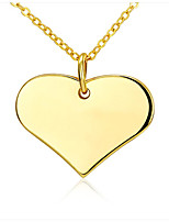 Women's Pendant Necklaces Copper Gold Plated 18K gold Heart Cute Style Euramerican Bohemian Personalized Africa Adorable Simple Style