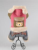 Chien Manteaux Vêtements pour Chien Décontracté / Quotidien Garder au chaud Animal Marron Rouge Vert