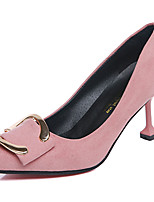 Women's Heels Cashmere Summer Walking Split Joint Stiletto Heel Black Ruby Blushing Pink 3in-3 3/4in