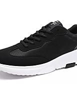 Homme Chaussures d'Athlétisme Confort Tulle Printemps Automne Athlétique Marche Confort Lacet Talon Plat Noir/blanc Noir/Rouge Plat