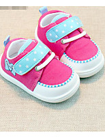 Girls' Athletic Shoes First Walkers Fabric Spring Fall Casual Walking First Walkers Magic Tape Low Heel Fuchsia Ruby Light Blue Flat
