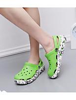 Men's Sandals Comfort PU Summer Casual Comfort Khaki Green Navy Blue Flat